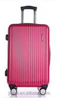 ABS PC spinner trolley luggage case ,personalized luggage set with double wheels, TSA lock airpalne 4 wheel