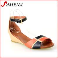 Wholesale small MOQ popular low heel women sandals