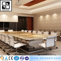 demax producer pvc chinese high tech embossed interior wall paper 3D