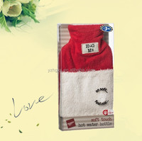 soft plush hot water bag cover for christmas gift