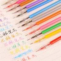 Wholesale China stationery supplies for school children pen advertisement sample rainbow color gel ink pen
