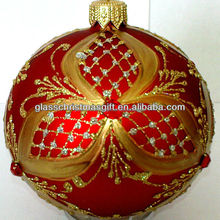2015 festive products manufacture novel design boxed popular christmas baubles glass ball christmas ball