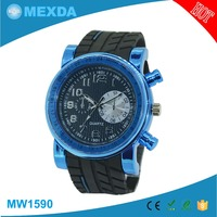 Man japan movt quartz watch stainless steel back custom silicone watch