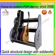 classical wooden guitar pick display case