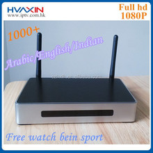 Arabic iptv box android tv box with bein sport channels , support xbmc Skype and youtube