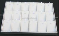 elegant white wood ring jewelry display tray / stand / holder