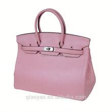 Popular wholesale women leather handbags P15135 PU/Genuine leather