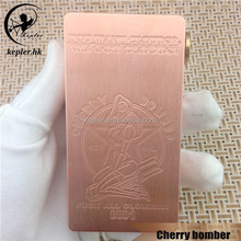 New e cigarette hong kong 1:1 clone cherry bomber with Aluminum Body and Sliding Door from Kepler factory