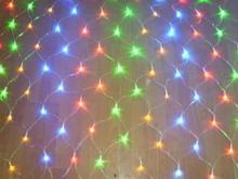 1*1 m PVC cable RGB Change Color LED net Lights holiday decorations 230v connectable IP44