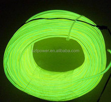 5.0mm Grass green High brightness EL wire with double core