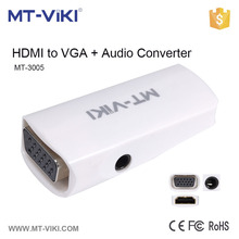 MT-3005 hdmi to female vga converter mini vga 2 hdmi converter hdmi converter box