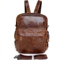Hot Sale Drop Shipping Top Grade Multifunctional Genuine Leather 2014 Fashion Trend Backpack #7007R-1