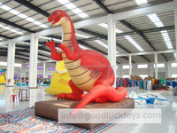 advertising/promotional giant inflatable cartoon red dinosaur model