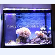 2012 hot sale gradual changing blue+white intelligent led aquarium lighting with timer and remote control for coral sps and reef