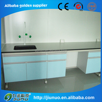 Factory Steel frame wooden body / PP / Phenolic board lab experiment workbench