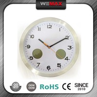 Promotional High-End Natural Color Metal Wall Clock Year Month Day Date