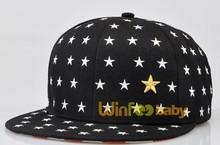 Guangzhou factory unisex stars pattern kids baby hat snapback cap