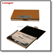 Unique pu leather name card holder square business card holder card case