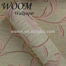 Couleur unie et les vignes rose, feuilles, motif. beau papier peint pour le mur de la chambre
