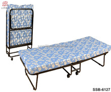 Metal Rollaway Guest Bed with Memory Foam Mattress