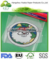 Christmas decoration wax paper