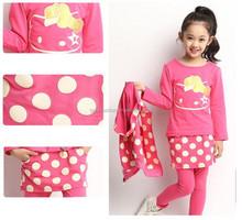 children t-shirt and pant and vest 3 pcs suit wholesale kids clothing set girls sport suit