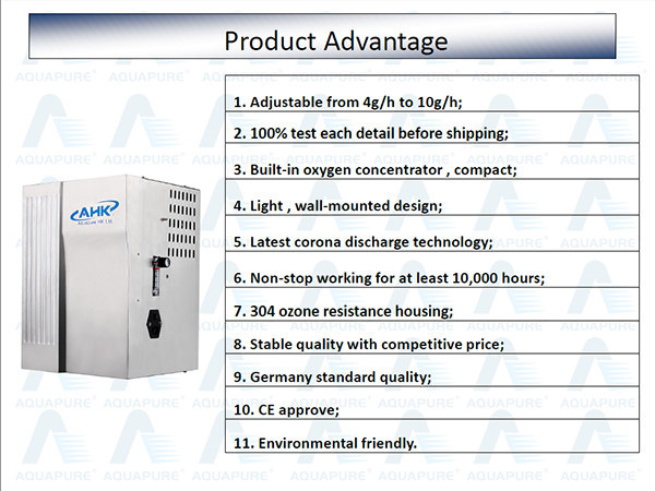2014 Hot Wall-mounted High Performance Ozone Generator with Oxygen System