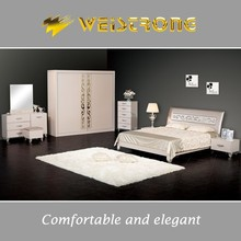 Weistrong latest bedroom furniture designs for dubai bed furniture market with large sliding door wardrobe