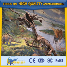 Cetnology Outdoor Playground Equipment Highly Simulation Lifesize Dinosaur Skeleton Models