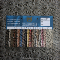 china supplier make-to-order supply type snake pattern matte pu leather