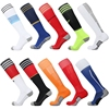2015 Striped Classic Design Sport Over Knee Pure Colorful Cotton Soccer Socks