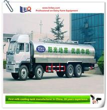 road milk tanker truck