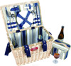 wine country picnic basket willow heart as decorate woven basket material