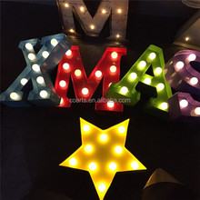 High quality custom holiday letter light party decoration