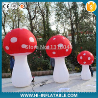 2015 inflatable balloon decorations,LED lighting inflatable mushroom for event,Christmas outdoor decoration