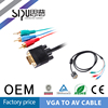 SIPU Factory price good quality color code vga to 3rca av audio video cable