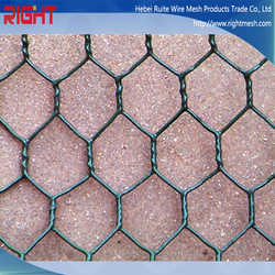 Quality Products Dark Green Plastic Coating Hexagonal Wire Netting