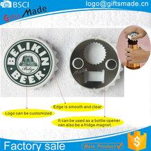 Wholesale promotional tourist souvenirs tinplate metal bottle opener fridge magnet