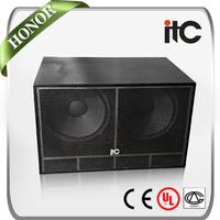 ITC TS-218 1000 Watt 4ohm Professional Dual 18 inch Subwoofer Box for Night Club Sound System