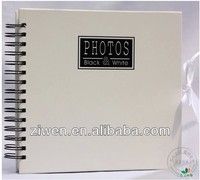 4x6''/10x15cm hold 120 photos Elegant white slip in pockets spiral bound promotion specialty paper photo album