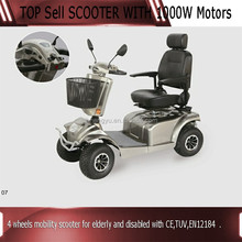 4 wheels Disabled Mobility Scooter with CE,TUV,EN12184 approved
