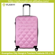 Promotion Cute Diamond Stone Design Various Colors Provided Scratch-resistant High Quality ABS Luggage