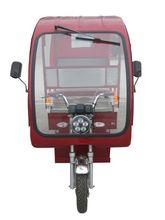 white passenger loading three wheeler tricycle brazil