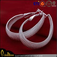best selling jewelry new design style mesh wrap clip -on earrings,charm earrings