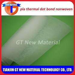 pla thermal bond nonwoven for weed control fabric, 140gsm pla nonwoven fabric