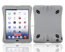 2015 New luxury super popular rubber Shockproof Armor Case Cover For iPad mini with soft shoulder strap