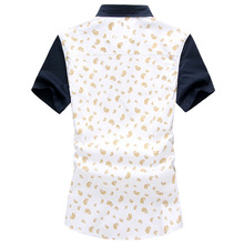 Fresh new summer fashion men's shirts men's short-sleeved shirt fashion city