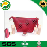 PU leather hollow out cosmetic case/make up cases/wholesale cosmetic bags