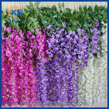 Plastic Silk Artificial Flower Artificial Wisteria for Wedding Decoration Artificial Flowers Free shipping Factory Directly