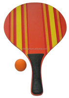 wood beach tennis racket with cheap
